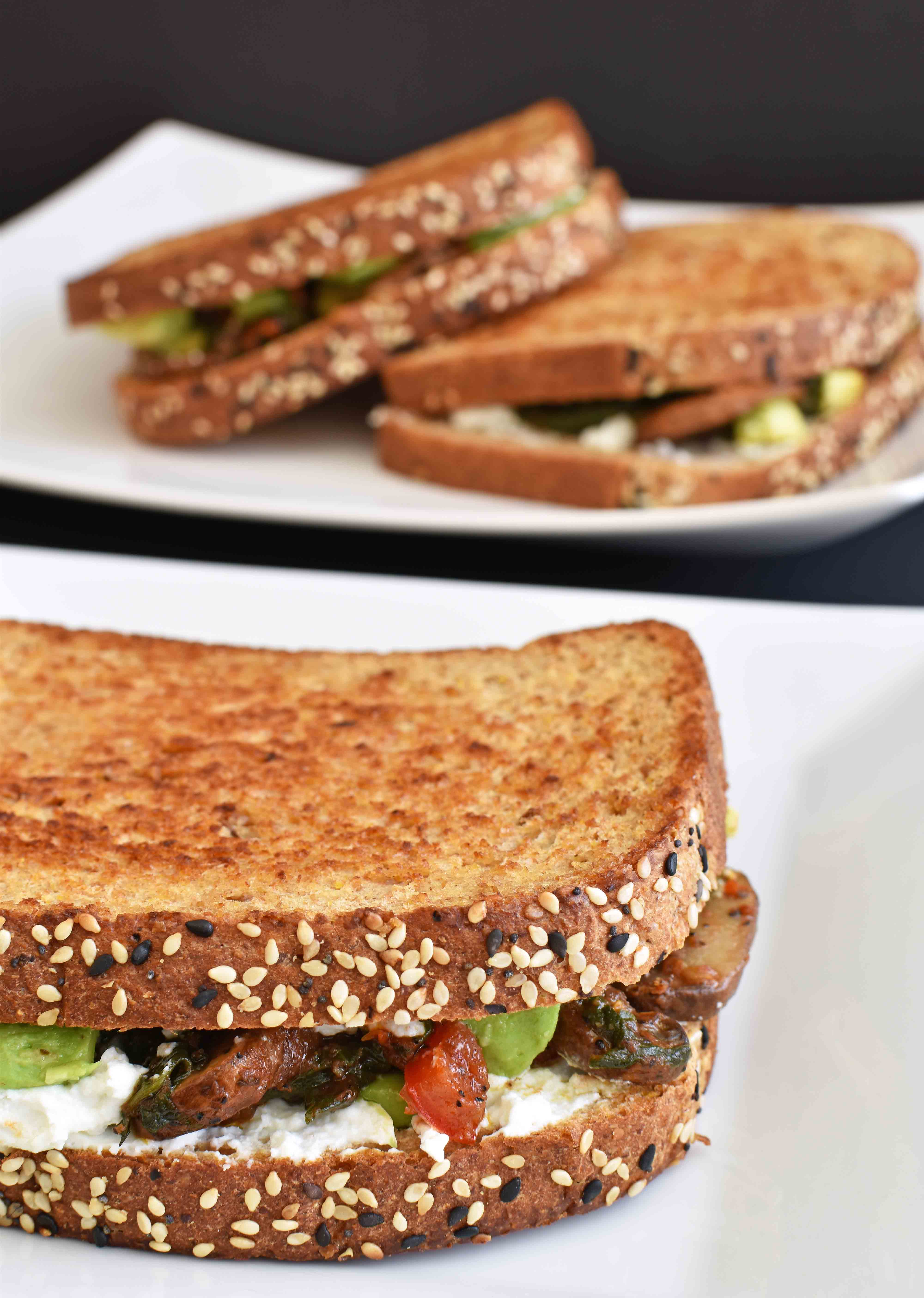 Veggie Sandwich with Goat Cheese - Pepper Delight #recipe #sandwich