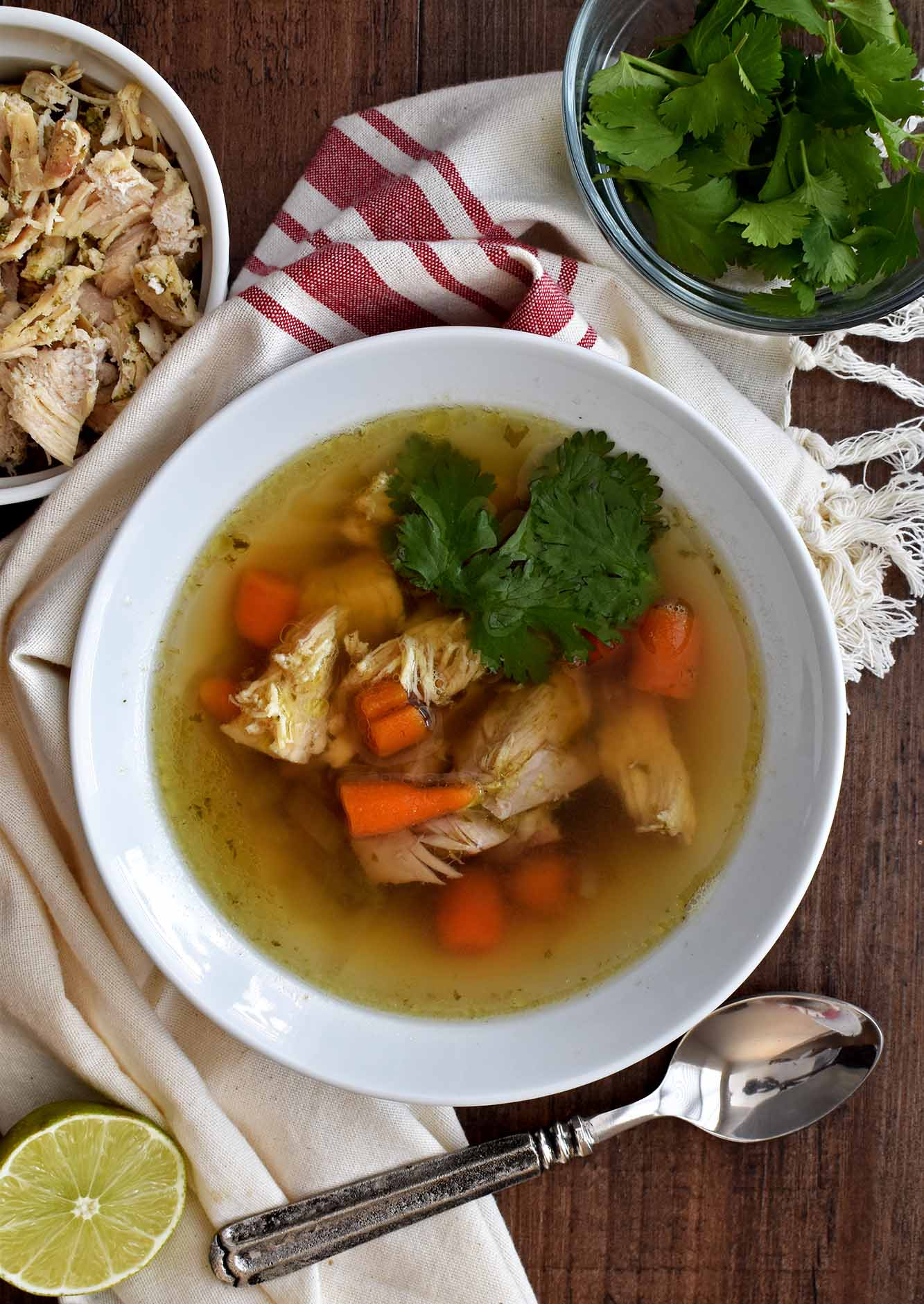 Chicken Cilantro Detox Soup - Pepper Delight #pepperdelightblog #recipe #soup #detox #chicken #wintersoup #healthy #easysoup #cleansingsoup # #leftovers #chickencilantrosoup