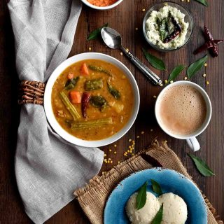 Kerala Sambar / Mixed Vegetable Lentil Stew