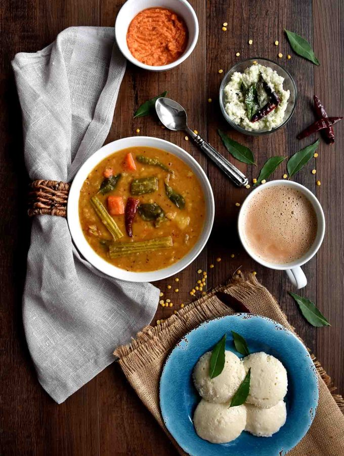 Sambar - Pepper Delight #pepperdelightblog #recipe #sambar #sambarpowder #keralasambar #homemadesammbarpowder #celebration #onam #sadya #vishu #kerala #nadan #holidayrecipes #podi #sambarpodi #spices #condiments #lentils #dal #meatless #vegeterian #