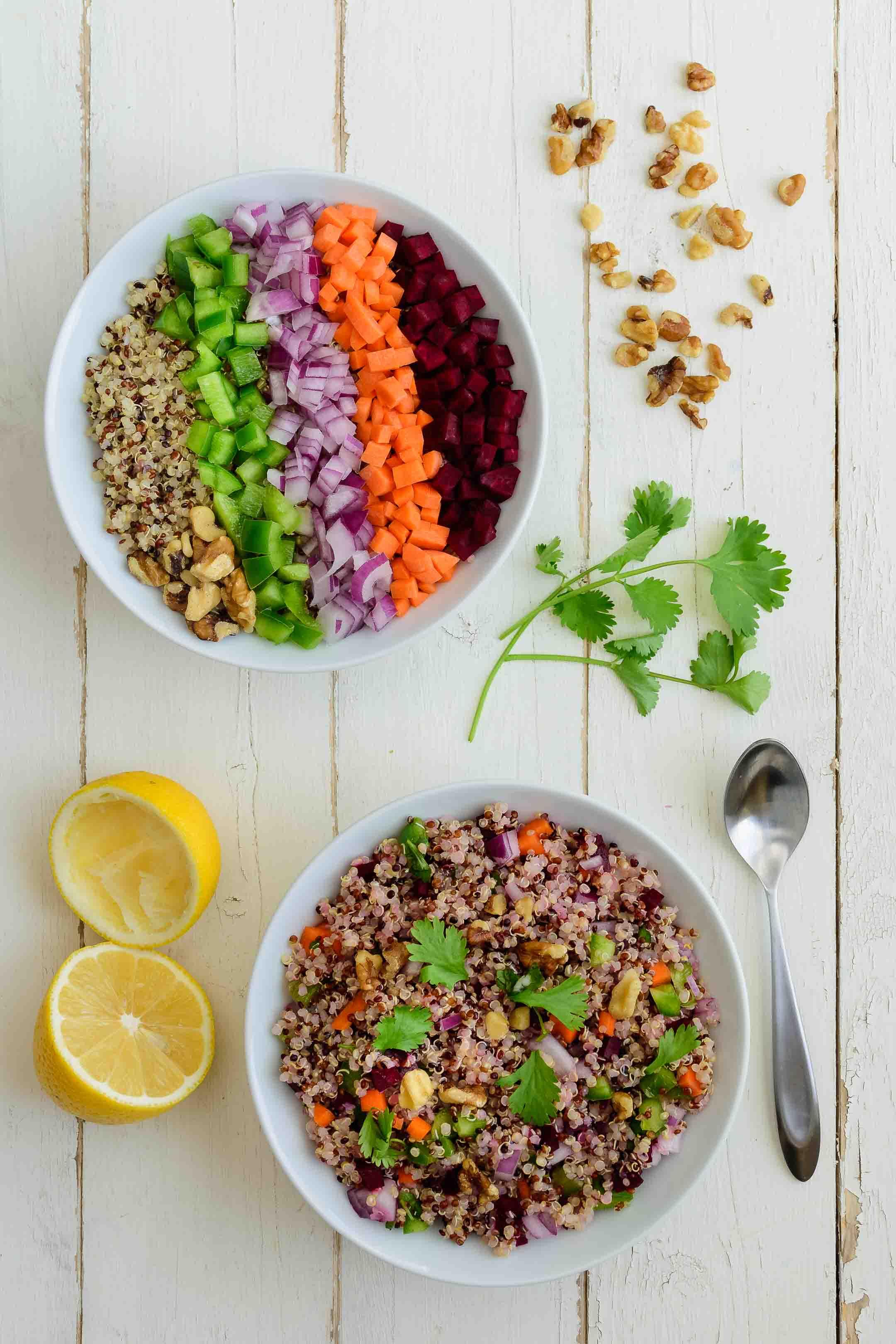 Quinoa Salad Bowl Pepper Delight
