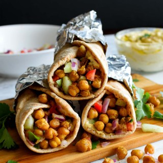 Roasted Chickpeas Hummus Wrap