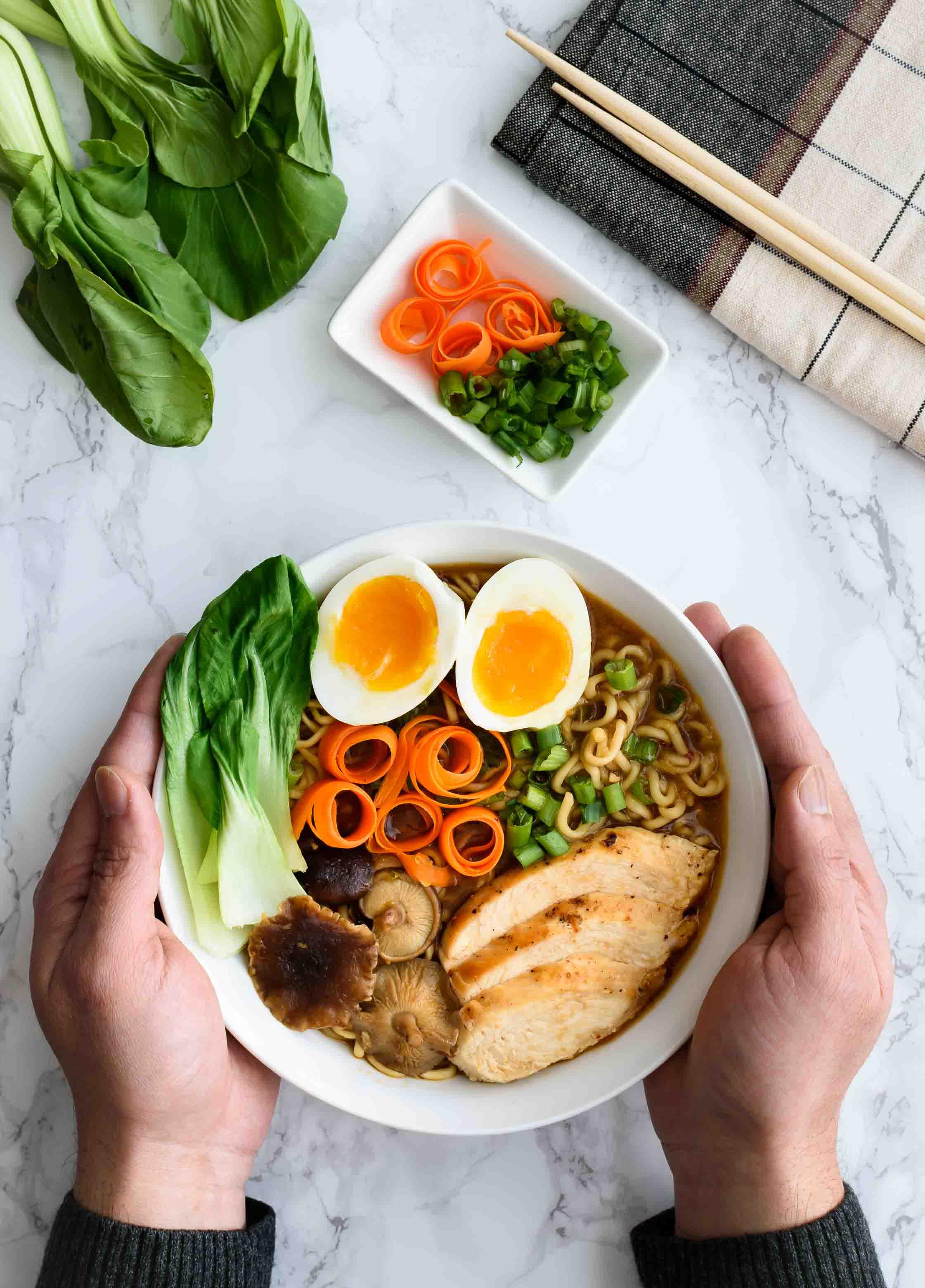 Chicken Ramen Noodle Soup- Pepper Delight #pepperdelightblog #recipe #soup #ramennoodlesoup #appetizer #ramensoup #noodlesoup #winterrecipes #dinner #ramen #homemadesoup #asianrecipes #wintersoup