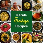 A collage of Kerala Sadya Recipes