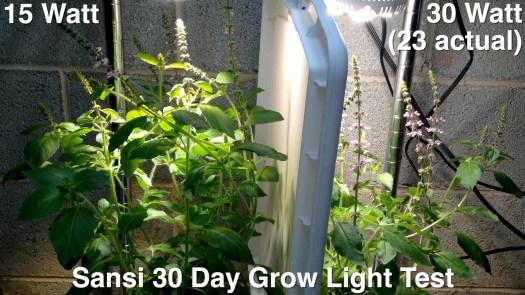 Sansi grow light comparison