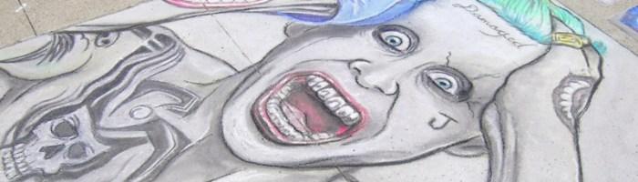 Jared Leto Joker Chalk Art