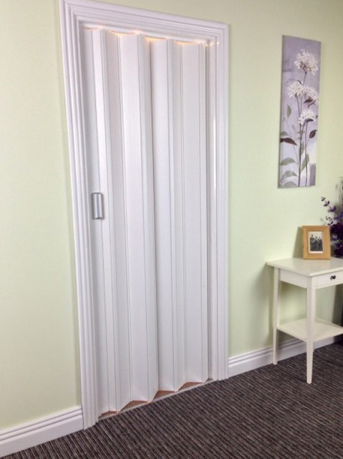Royale Interior Folding Door With Snap Lock Closure And