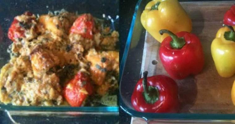 Peppers Stuffed with Mashed Potatoes – Bharwan Shimla Mirch