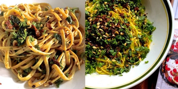 Zafrani Saffron Linguine in herbed spiced Moroccan style Butter