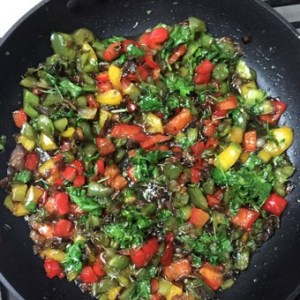 Add peppers parsley_pepperonpizza.com