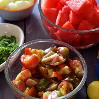 Ingredients for Watermelon Gazpacho