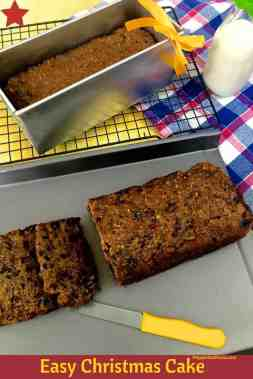 Rich Christmas Fruit cake baked and sliced