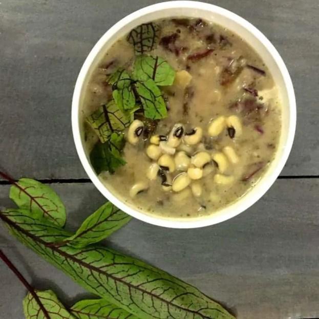 2 bean sorrel soup_PepperOnPizza.com