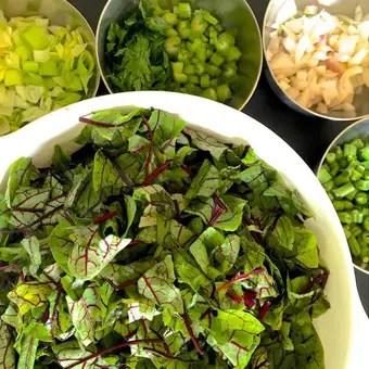 ingredients for bean sorrel soup_PepperOnPizza.com