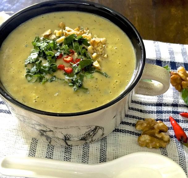 Hot chilli zucchini soup_PepperOnPizza.com