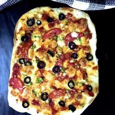 Homemade Thin Crust Pizza_PepperOnPizza.com