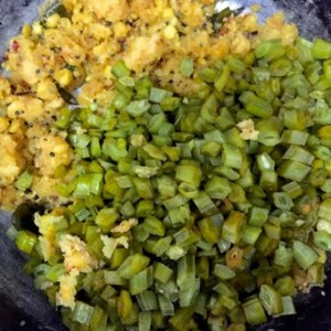 Paruppu Usili_Add the steamed beans