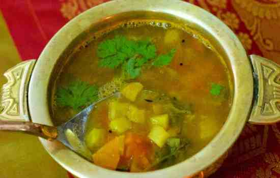 Festive Pineapple Rasam -How to make Pineapple Rasam