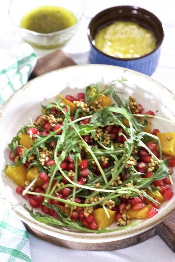 Pumpkin Labneh Buckwheat Salad