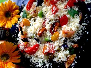 Roasted Tomato couscous salad