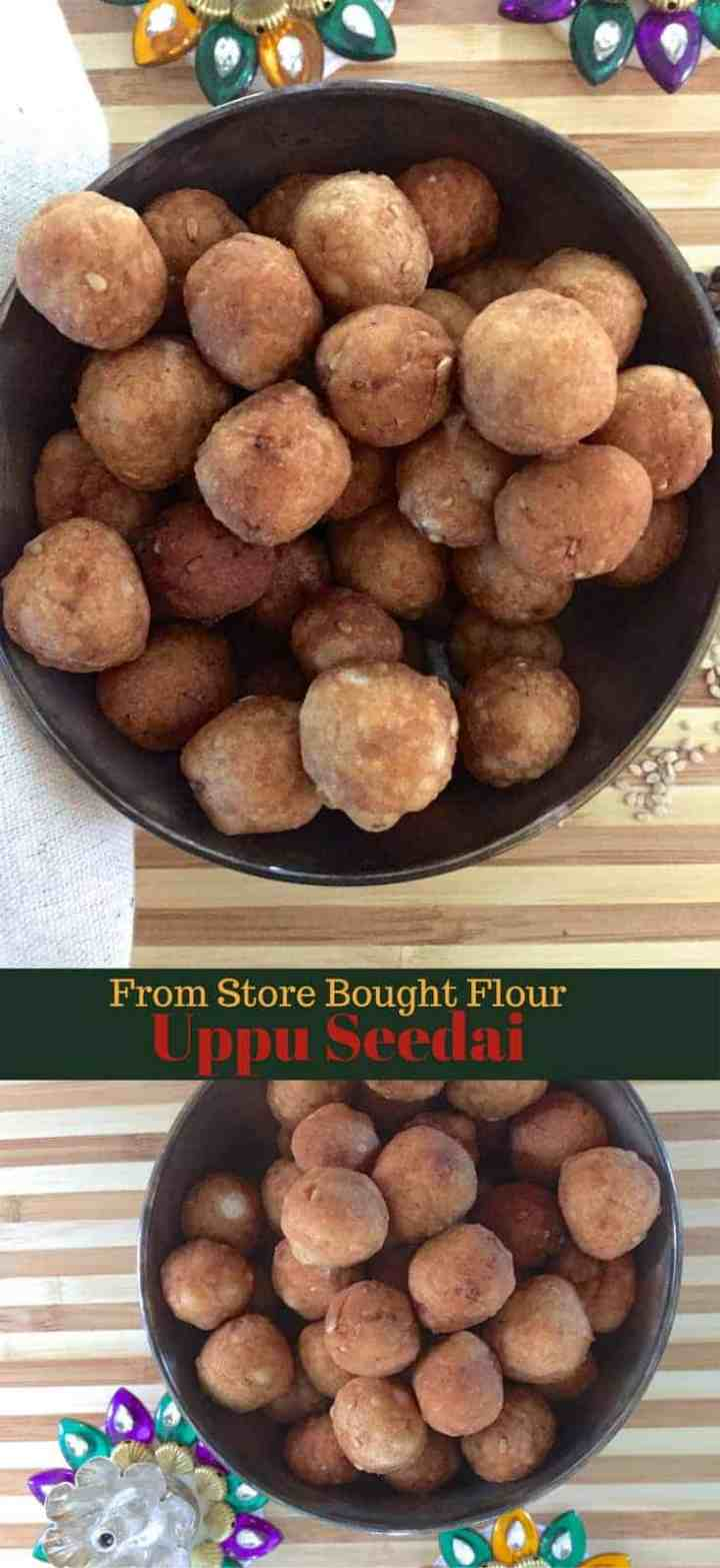 Simple step by step recipe for easy Uppu Seedai from store bought flour, for a traditional Tamilian savoury for Gokulashtami naivedyam