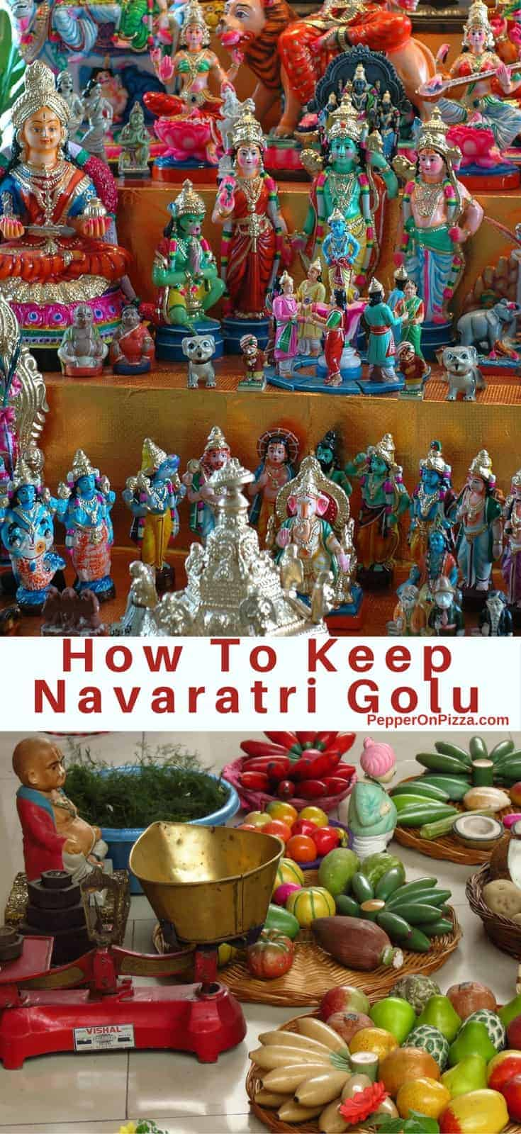 Navaratri Golu and How To Keep It, and when and how to arrange the golu dolls on the golu stand as per tradition