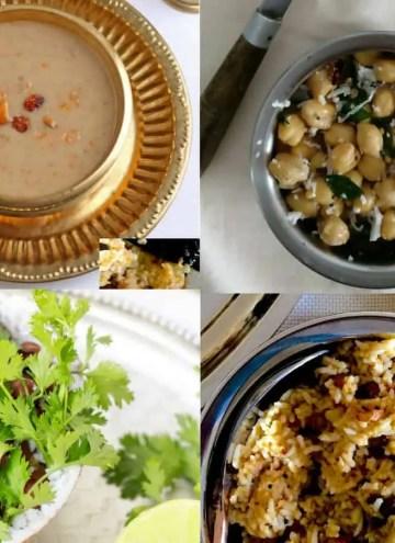 Easy Navaratri Naivedyam and Sundal Recipes for Navaratri Pooja and for Navaratri Golu for busy Moms. No Onion No Garlic Recipes
