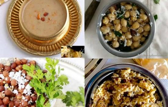 Easy Navaratri Naivedyam and Sundal Recipes