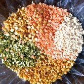 5 types of lentils to be soaked for making the Amti Dal