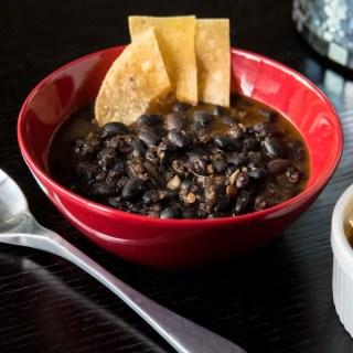 Soyrizo Black Beans served - angle 3