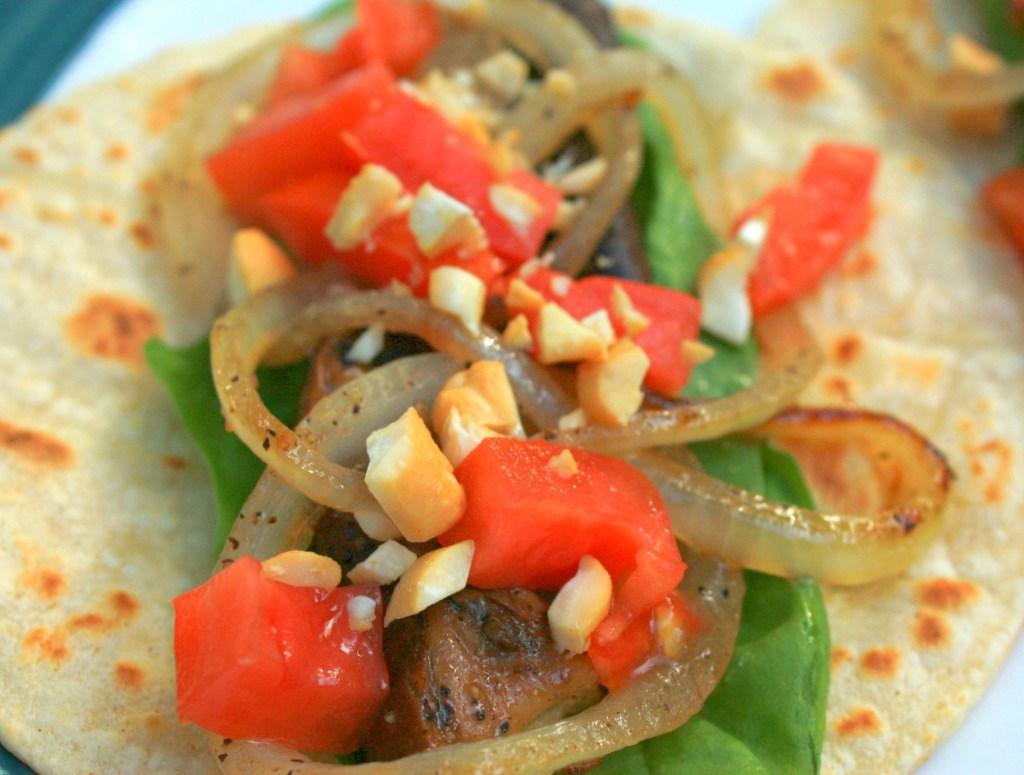 Balsamic Portobello Cashew Tacos