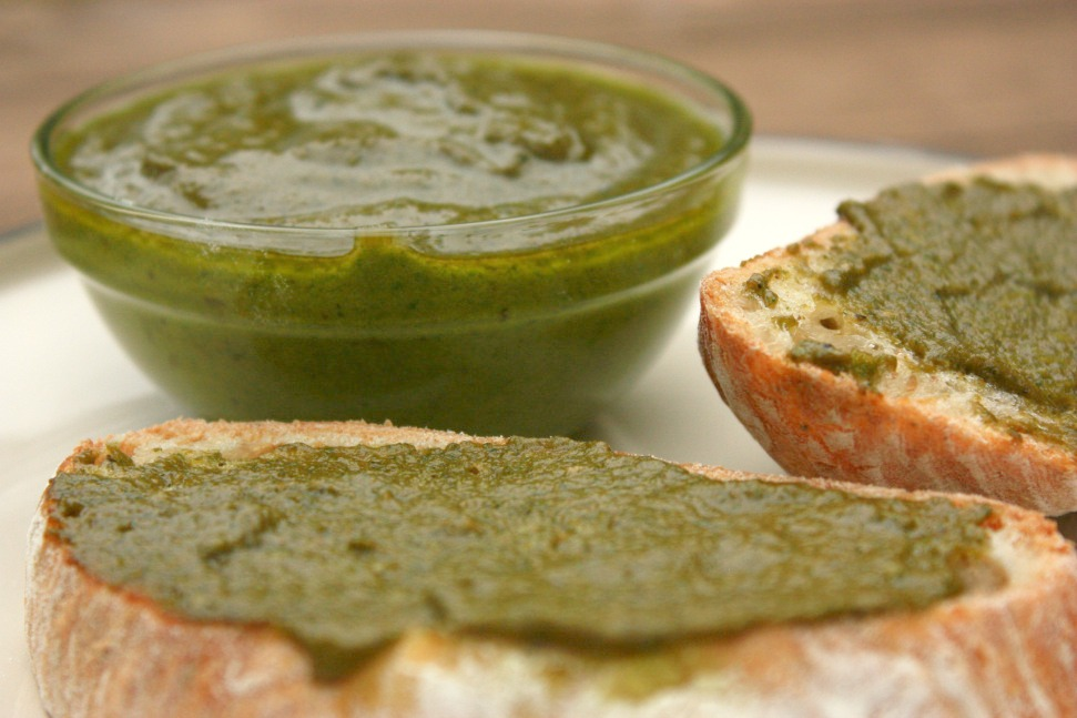 Fresh. Basil. Pesto.