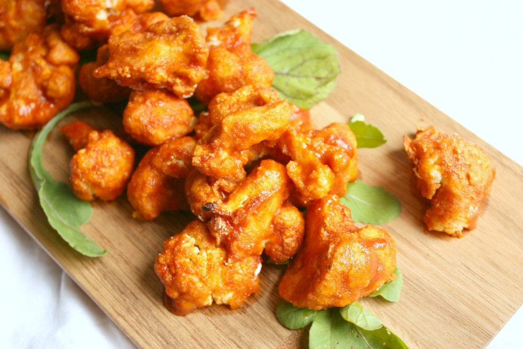 Sweet & Spicy Buffalo Cauliflower Wings