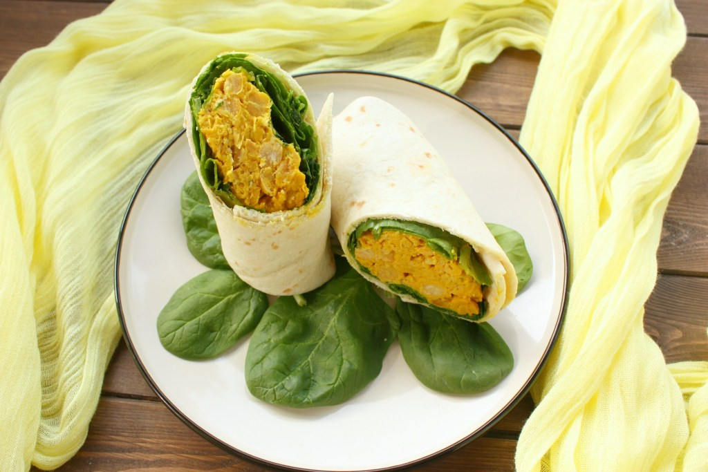 Curried Chickpea Salad Wrap