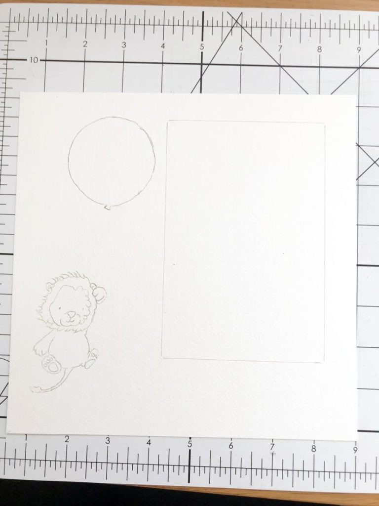 Handmade nursery decor craft project - sketching out a design ready to paint