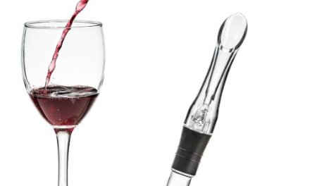 Basily Wine Aerator — BREATHES wine straight from the bottle! – HASSLE-FREE Spout Pourer – Bottle Top Wine Decanter Alternative – Best Aerator for Red Wine – PREMIUM Bar Accessories – Portable – 100% MONEY BACK GUARANTEE