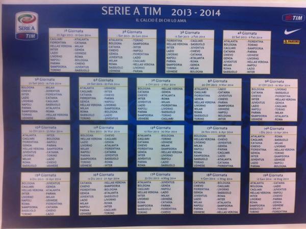 kalendari serie a kampionati italian 2013 2014