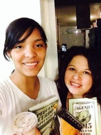 Iliana y su sobrina