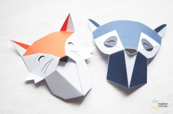 animales origami para descargar gratis