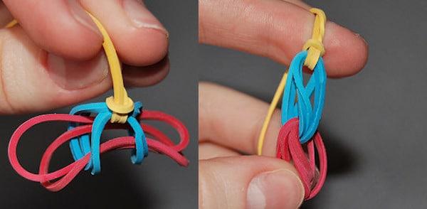 collar y pulsera de gomas elasticas