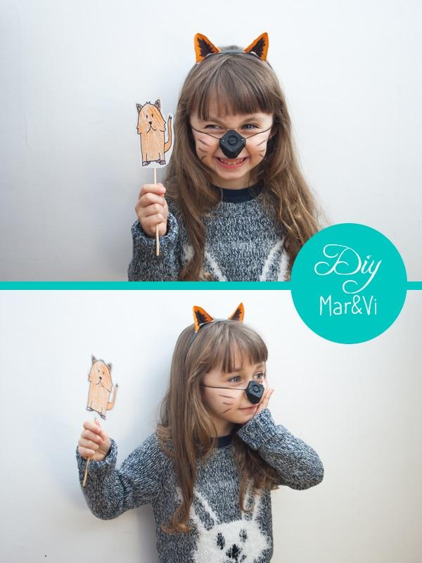 cómo hacer un disfraz casero de gato