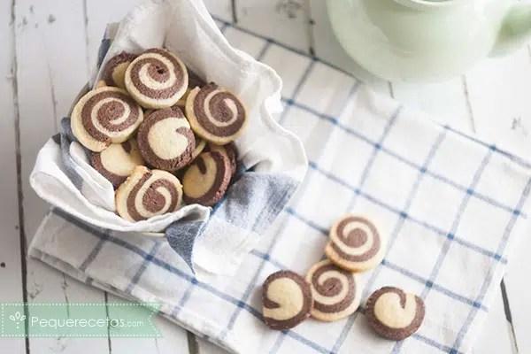 Deliciosas galletas espiral de dos sabores