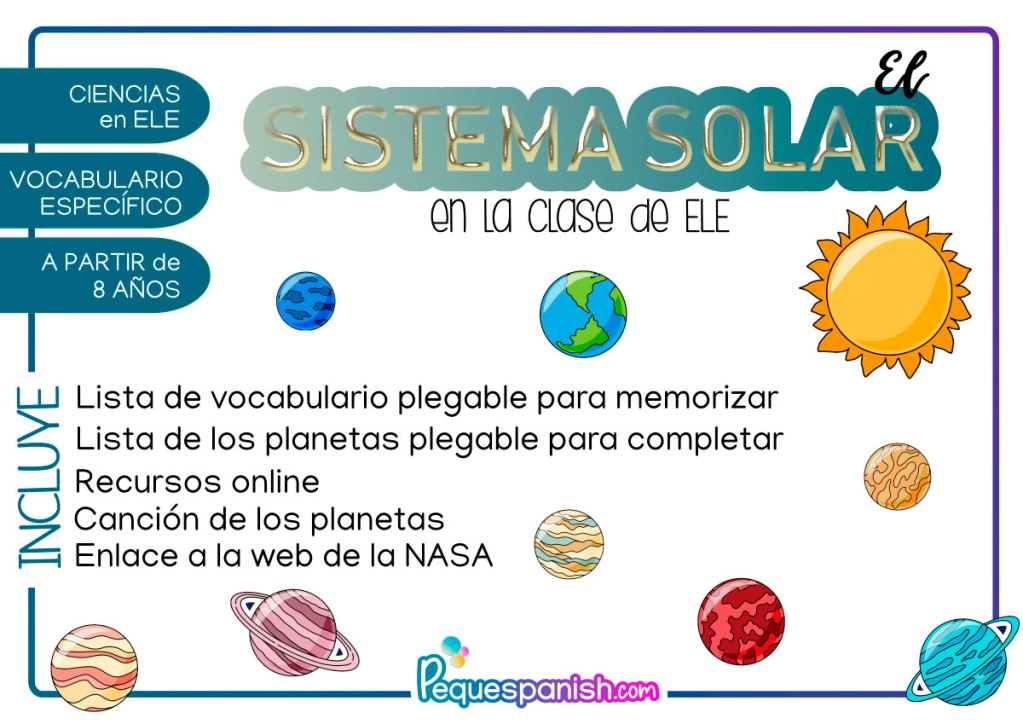 Sistema Solar en la clase de ELE