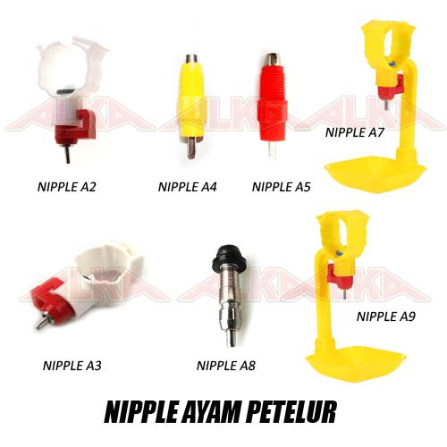 nipple ayam petelur, nipple ayam layer, nipple a2, nipple a3, nipple a4, nipple a5, nipple a7, nipple a8, nipple a9