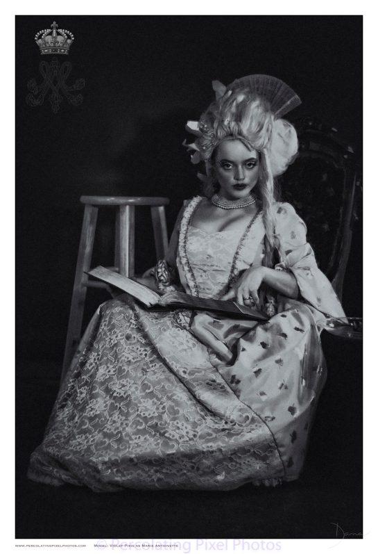 Marie Antoinette reading Bible
