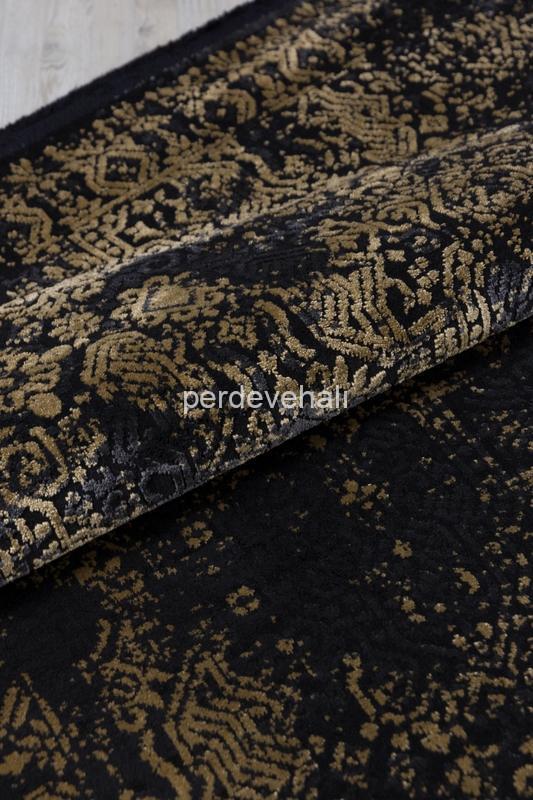 Koza Halı Loft Siyah Gold Halı 30609C