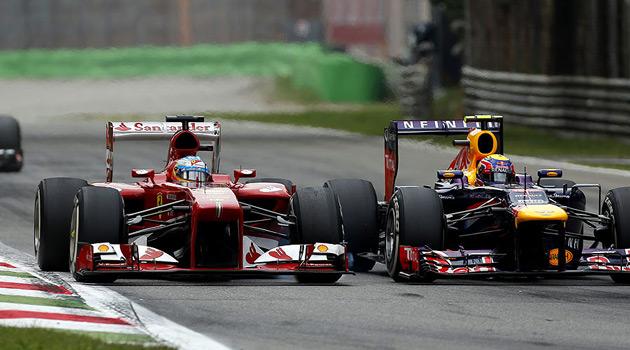 Fernando Alonso y Mark Webber completaron el podio
