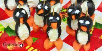 Cum se prepara un Aperitiv Pinguini cu Masline si Crema de Branza?