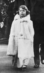 Elisabeta a II-a, în copilărie
