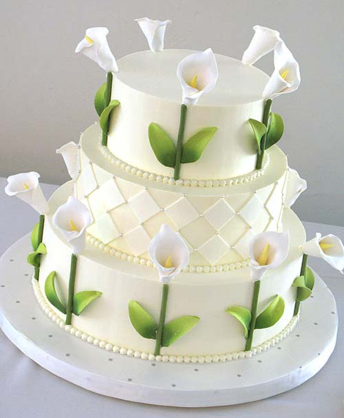 Lovely Calla Lilly Wedding Cakes calla lilly wedding cakes